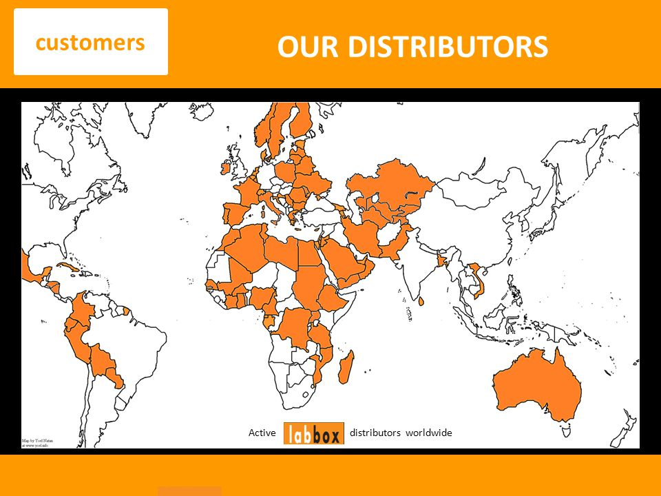 OUR DISTRIBUTORS customers Active distributors worldwide