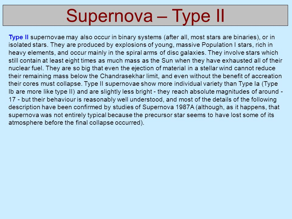 Supernova – Type II