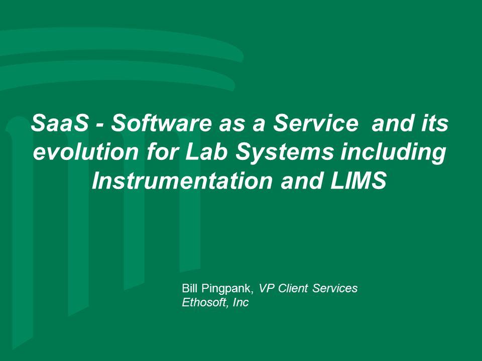 Bill Pingpank, VP Client Services Ethosoft, Inc