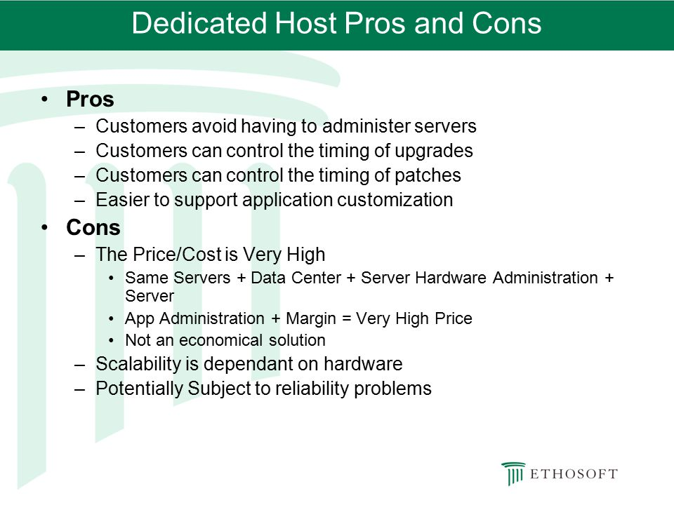 Dedicated Host Pros and Cons