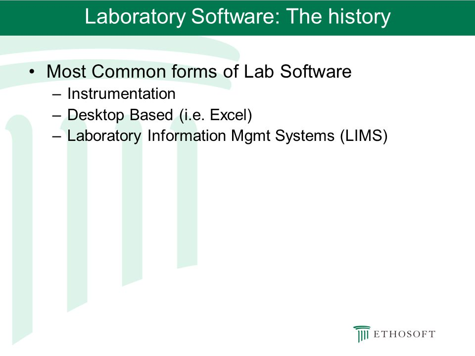 Laboratory Software: The history