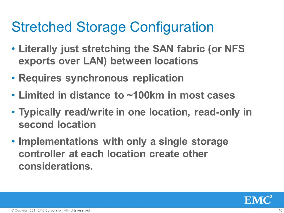 Stretched Storage Configuration