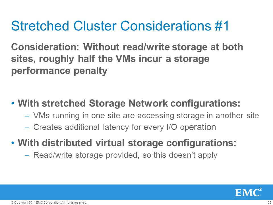 Stretched Cluster Considerations #1
