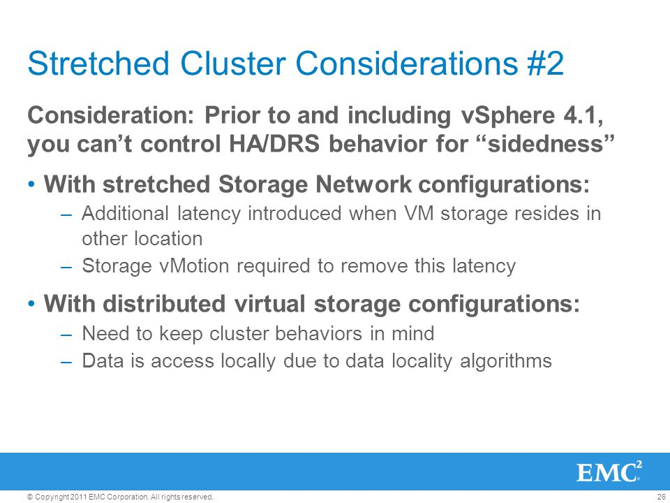 Stretched Cluster Considerations #2