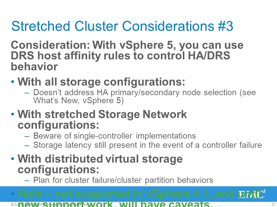 Stretched Cluster Considerations #3