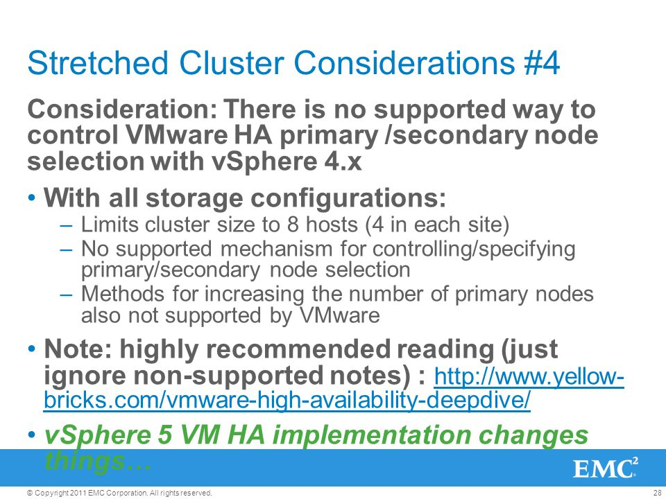 Stretched Cluster Considerations #4
