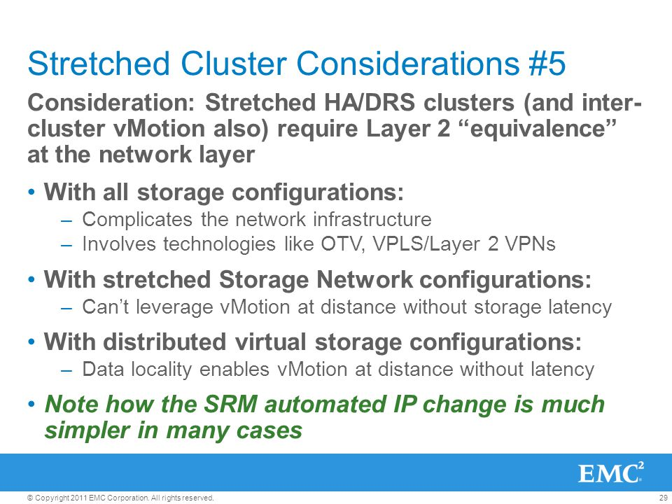 Stretched Cluster Considerations #5