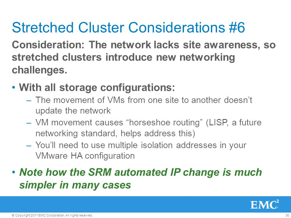 Stretched Cluster Considerations #6