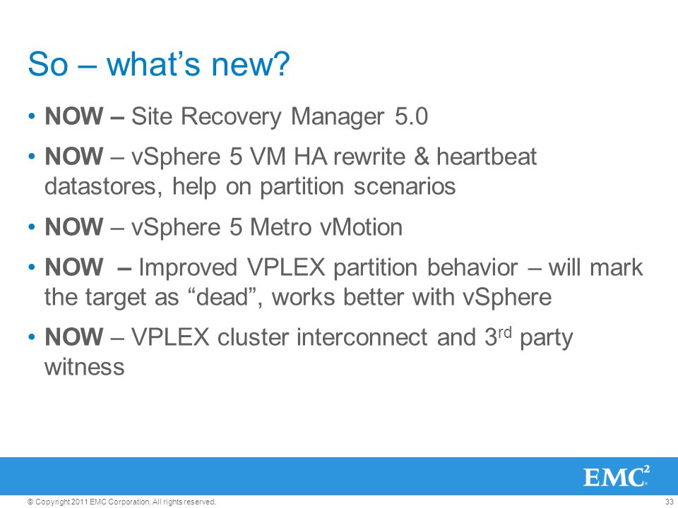 So – what's new NOW – Site Recovery Manager 5.0