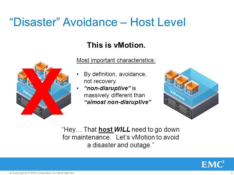 Disaster Avoidance – Host Level