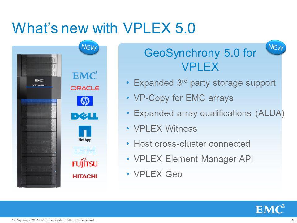 GeoSynchrony 5.0 for VPLEX