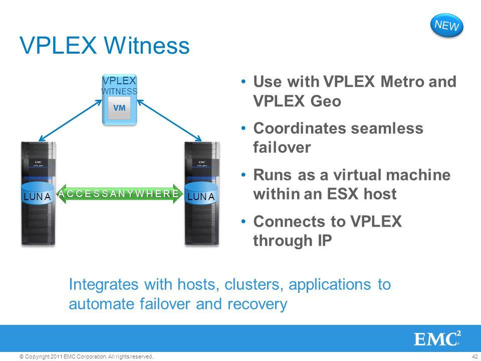 VPLEX Witness Use with VPLEX Metro and VPLEX Geo