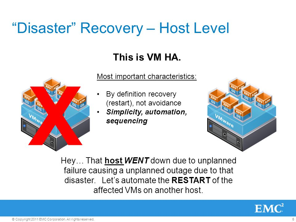 Disaster Recovery – Host Level