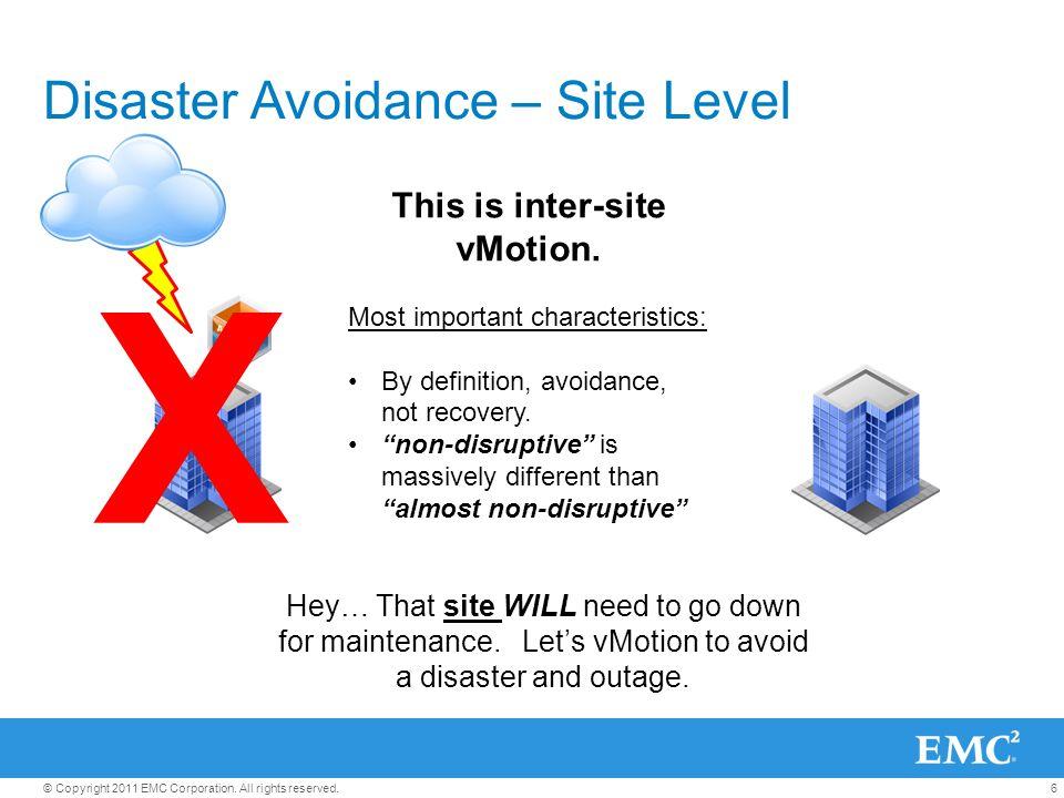 Disaster Avoidance – Site Level