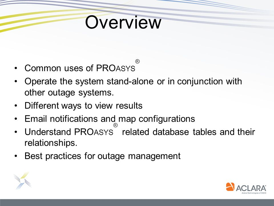 Overview Common uses of PROasys®
