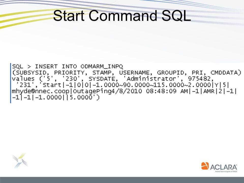 Start Command SQL