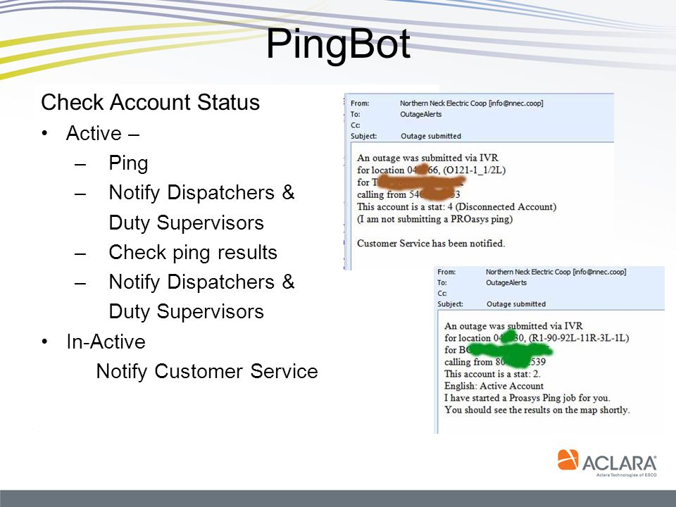 PingBot Check Account Status Active – Ping Notify Dispatchers &