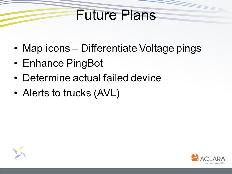 Future Plans Map icons – Differentiate Voltage pings Enhance PingBot