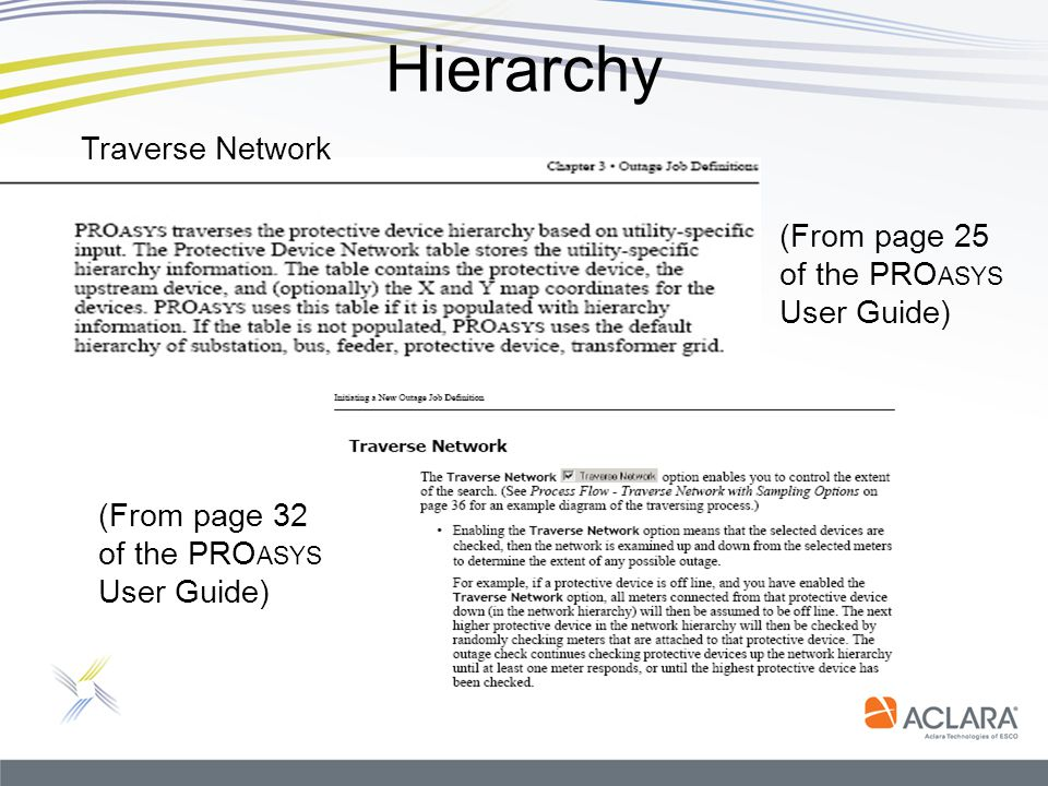 Hierarchy Traverse Network (From page 25 of the PROasys User Guide)