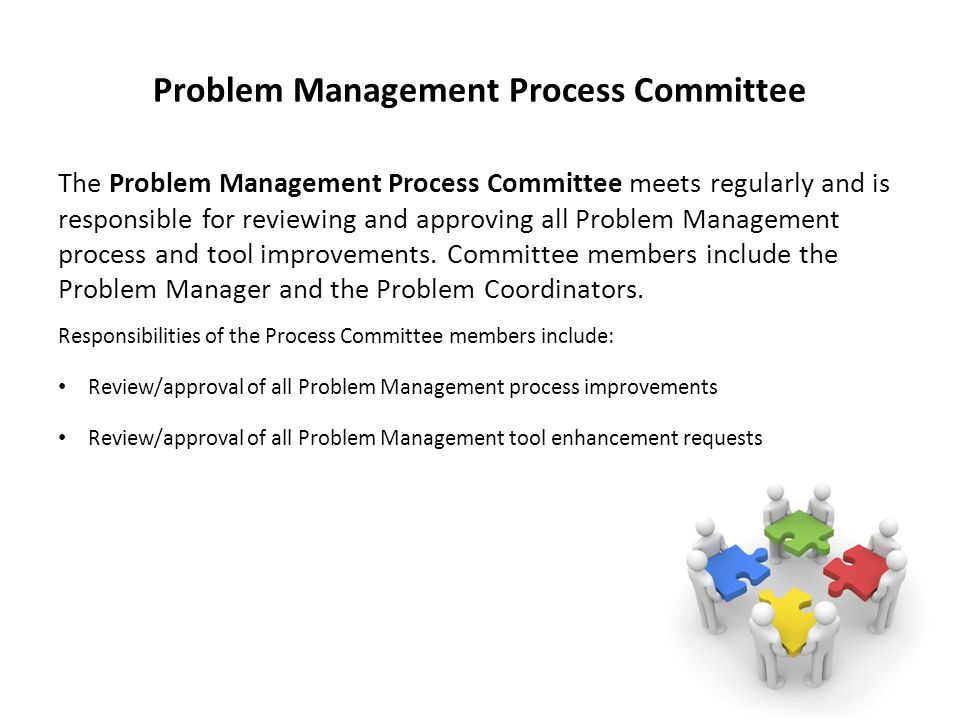 Problem Management Process Committee