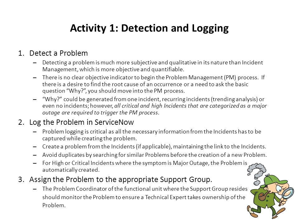 Activity 1: Detection and Logging