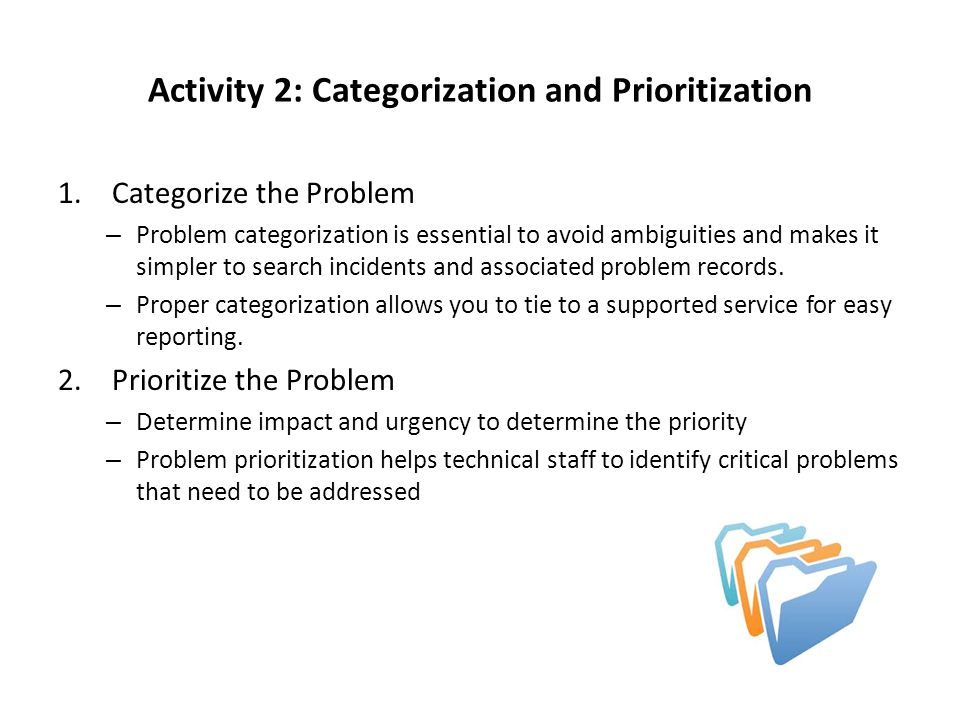 Activity 2: Categorization and Prioritization