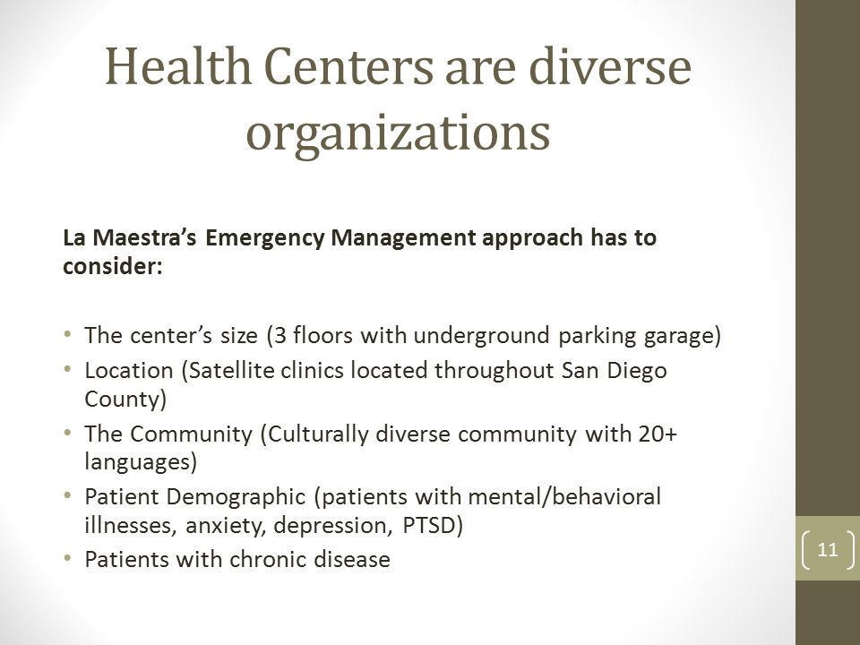 Health Centers are diverse organizations