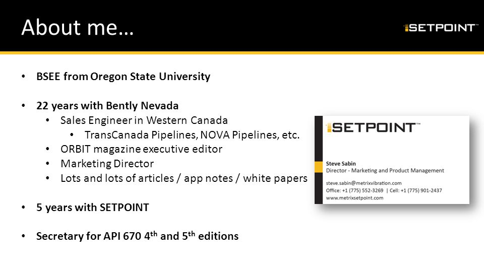 About me… BSEE from Oregon State University