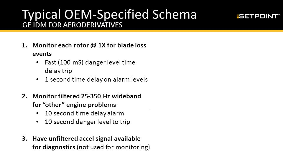 Typical OEM-Specified Schema