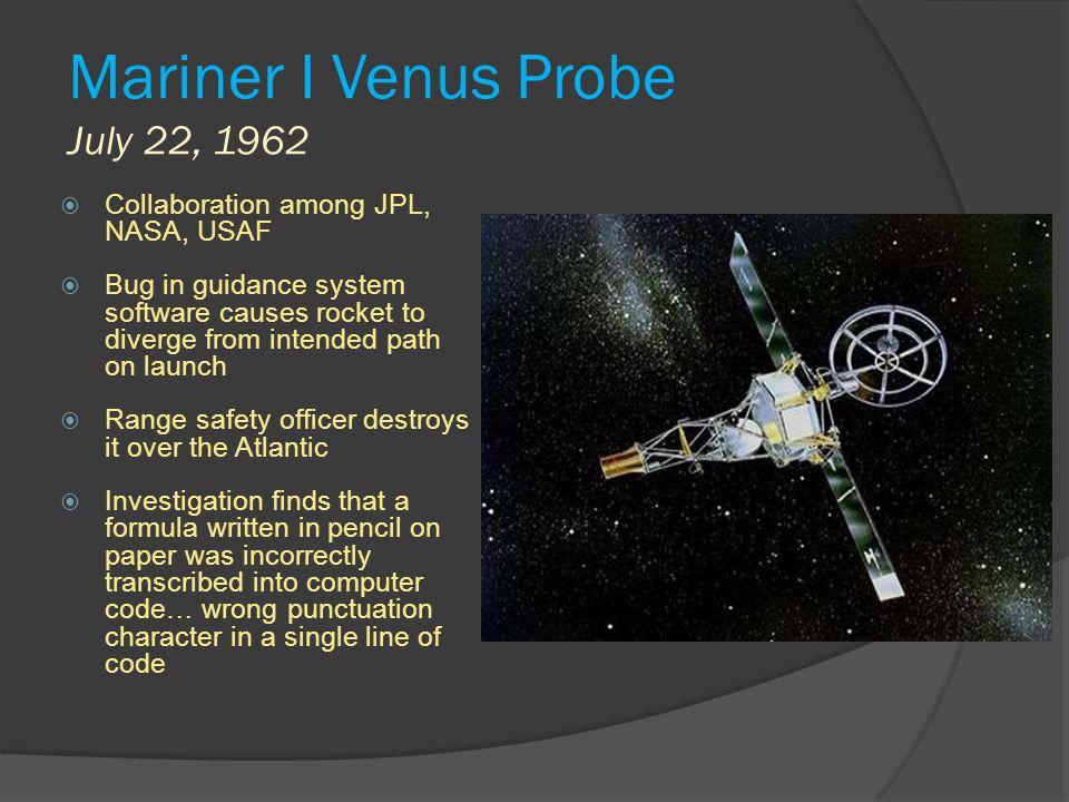 Mariner I Venus Probe July 22, 1962