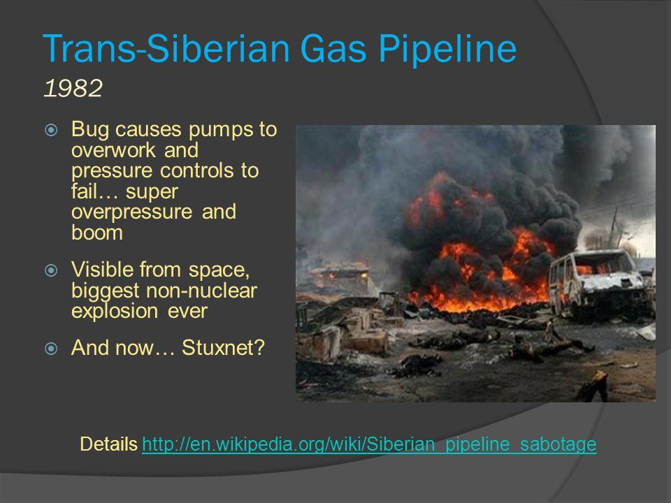 Trans-Siberian Gas Pipeline 1982