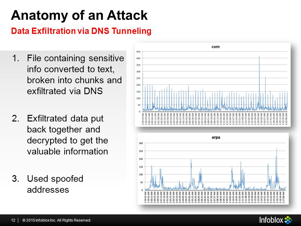 Anatomy of an Attack Data Exfiltration via DNS Tunneling.