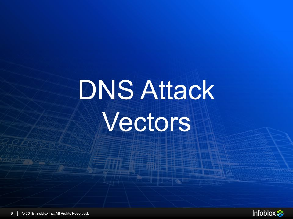 DNS Attack Vectors © 2015 Infoblox Inc. All Rights Reserved.