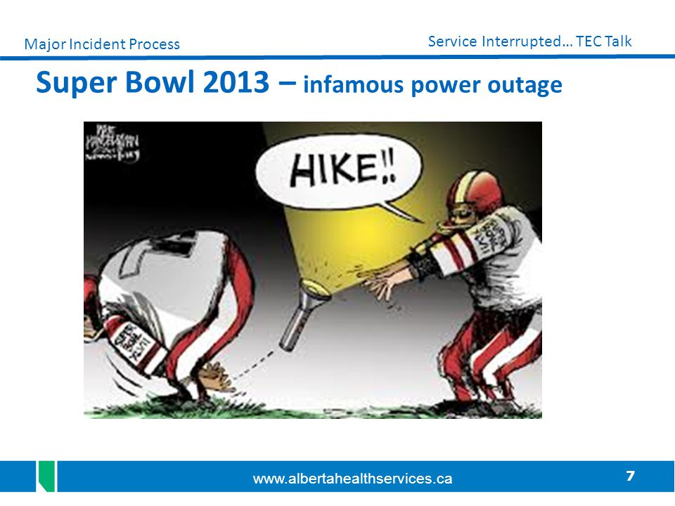 Super Bowl 2013 – infamous power outage