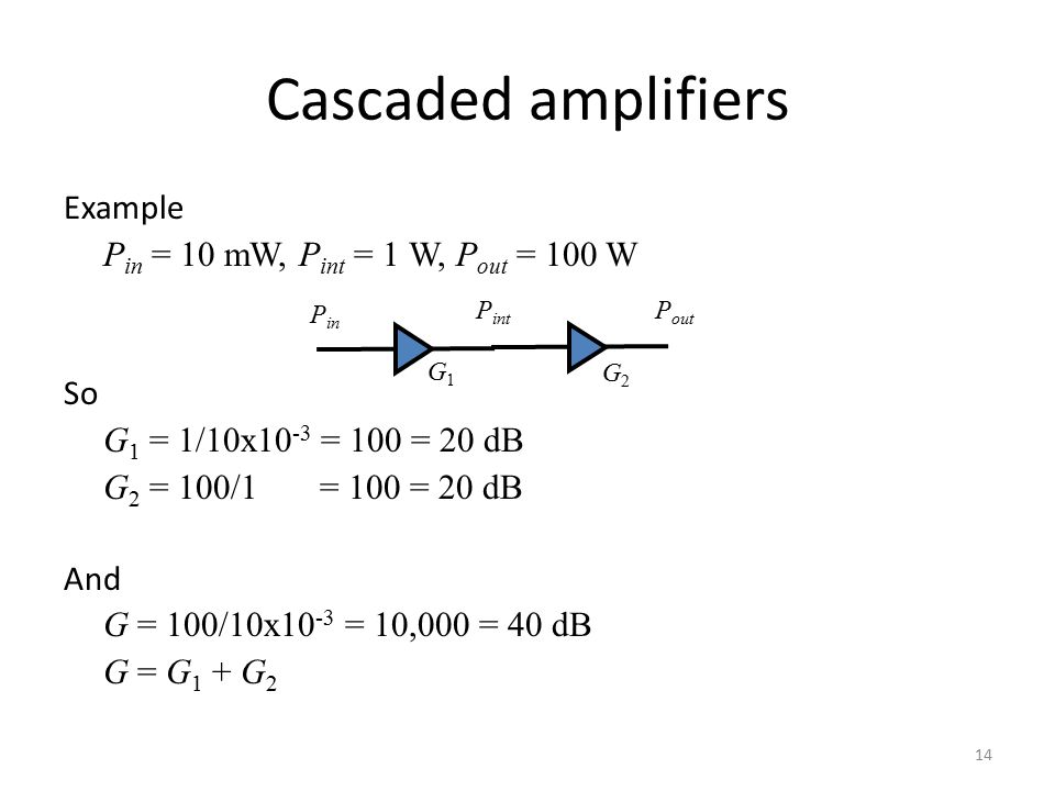 Cascaded amplifiers