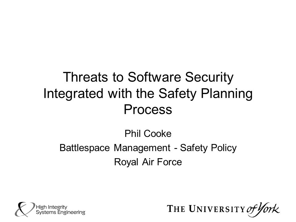 Phil Cooke Battlespace Management - Safety Policy Royal Air Force