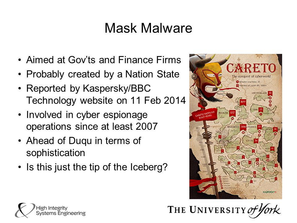 Mask Malware Aimed at Gov'ts and Finance Firms