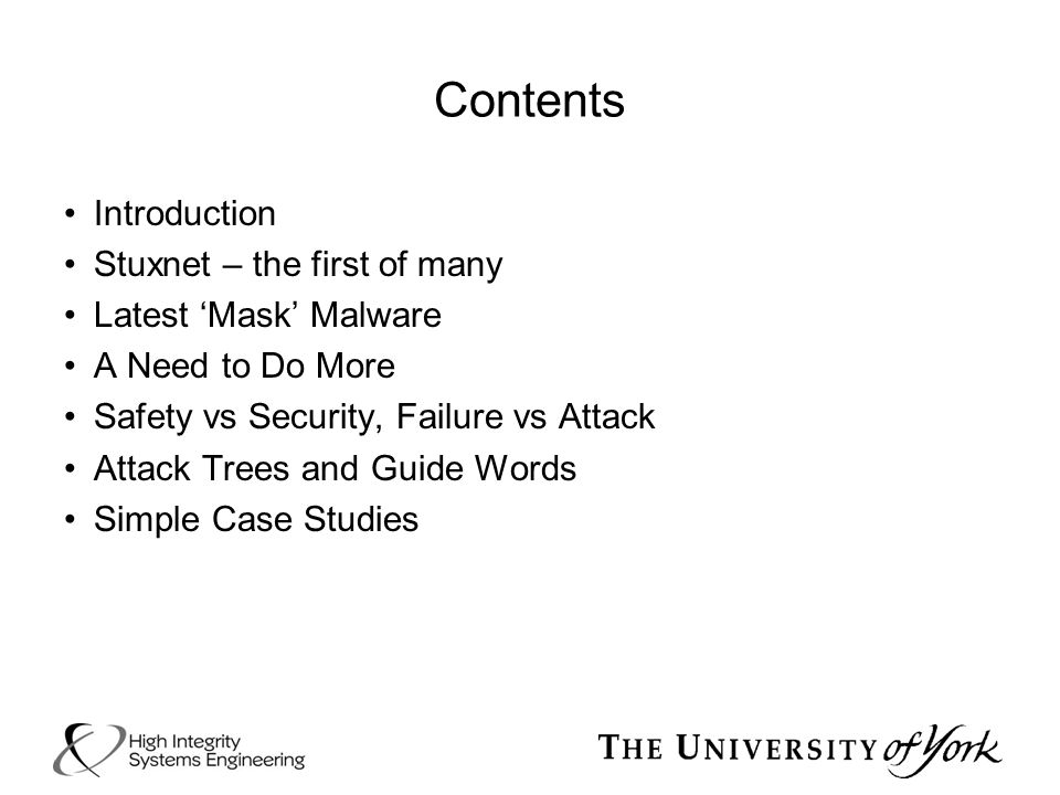 Contents Introduction Stuxnet – the first of many