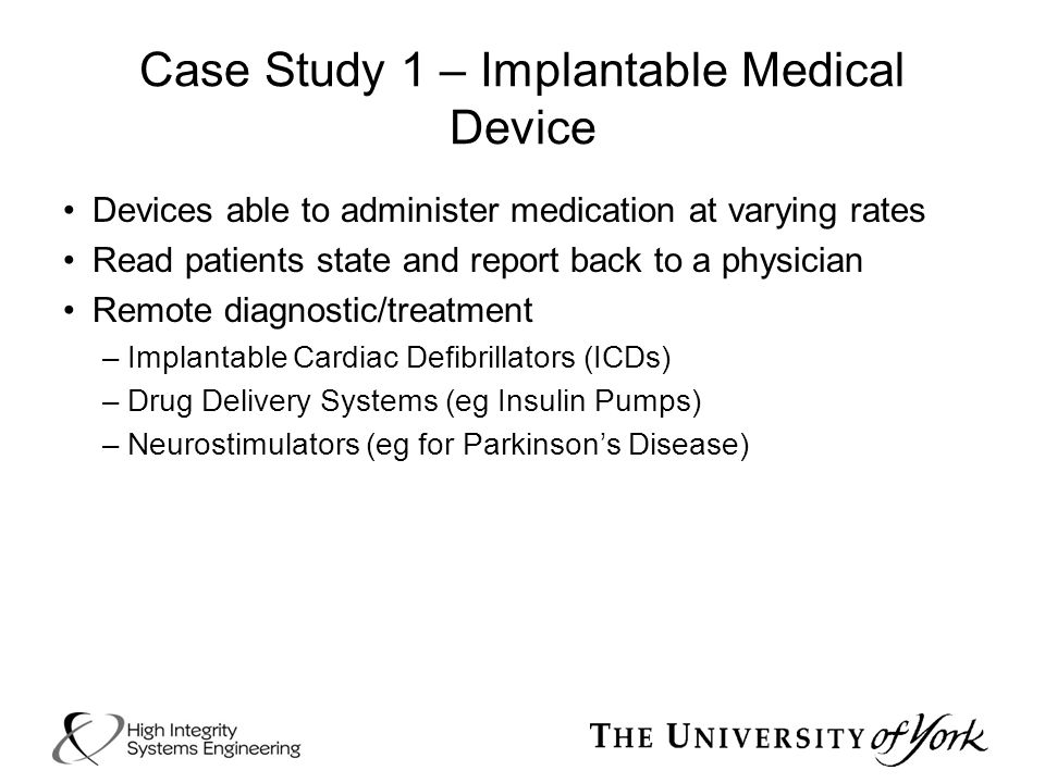 Case Study 1 – Implantable Medical Device