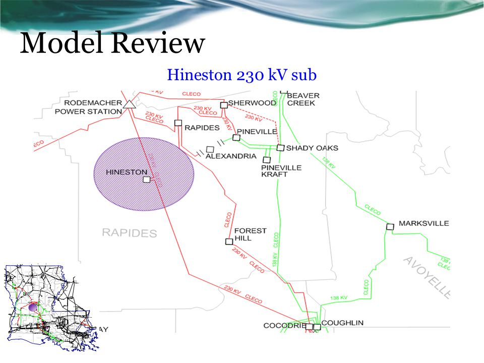 Model Review Hineston 230 kV sub