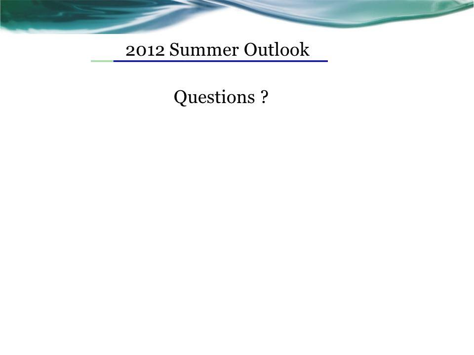 2012 Summer Outlook Questions