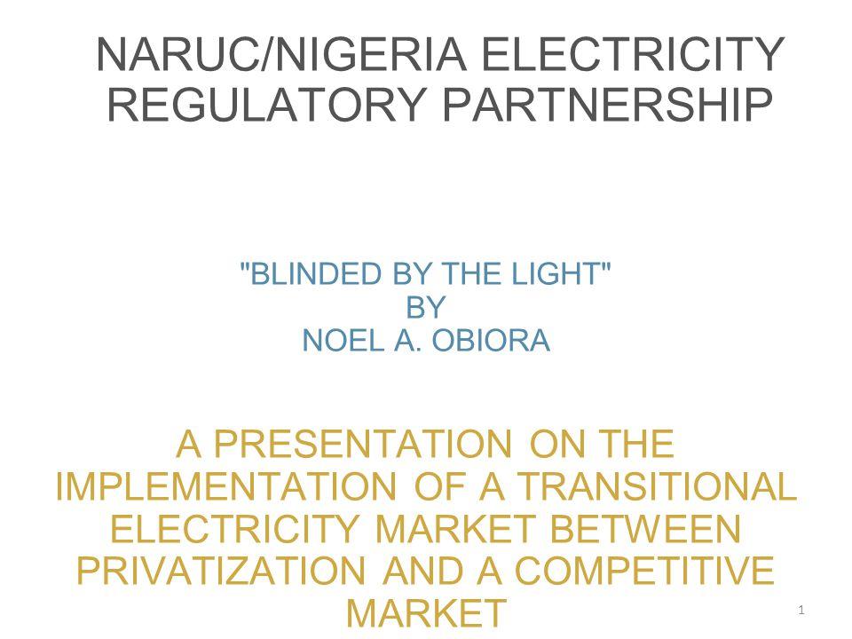 naruc/nigeria electricity regulatory partnership
