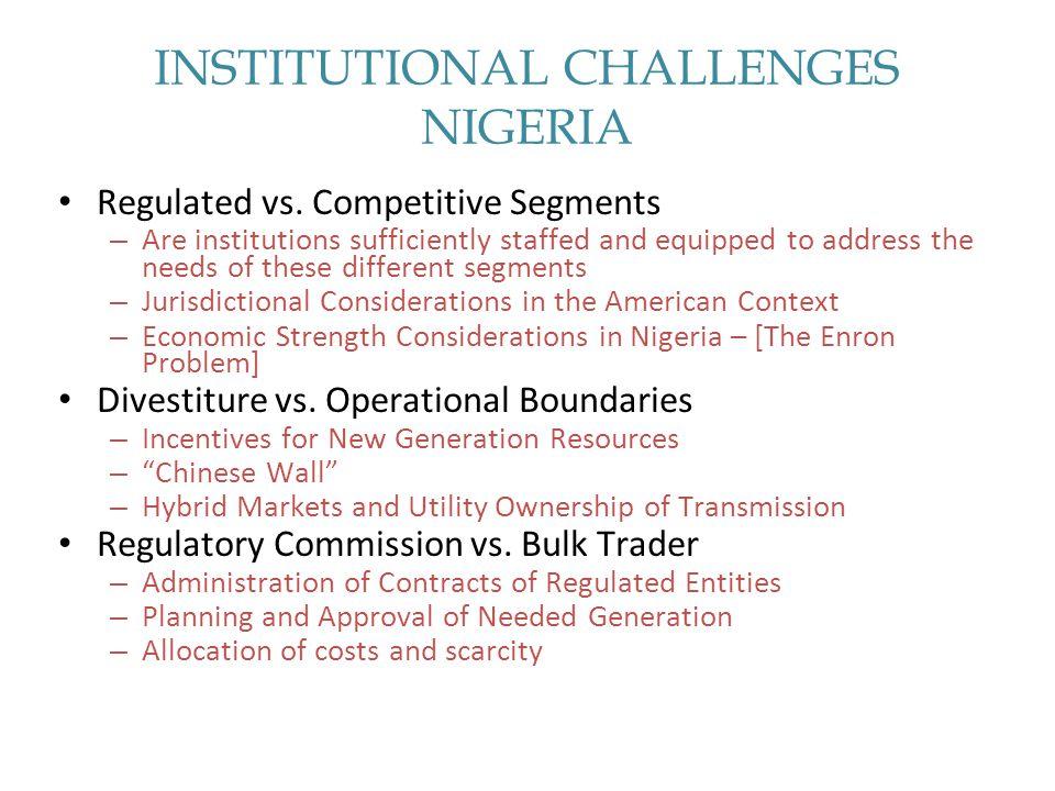 INSTITUTIONAL CHALLENGES NIGERIA