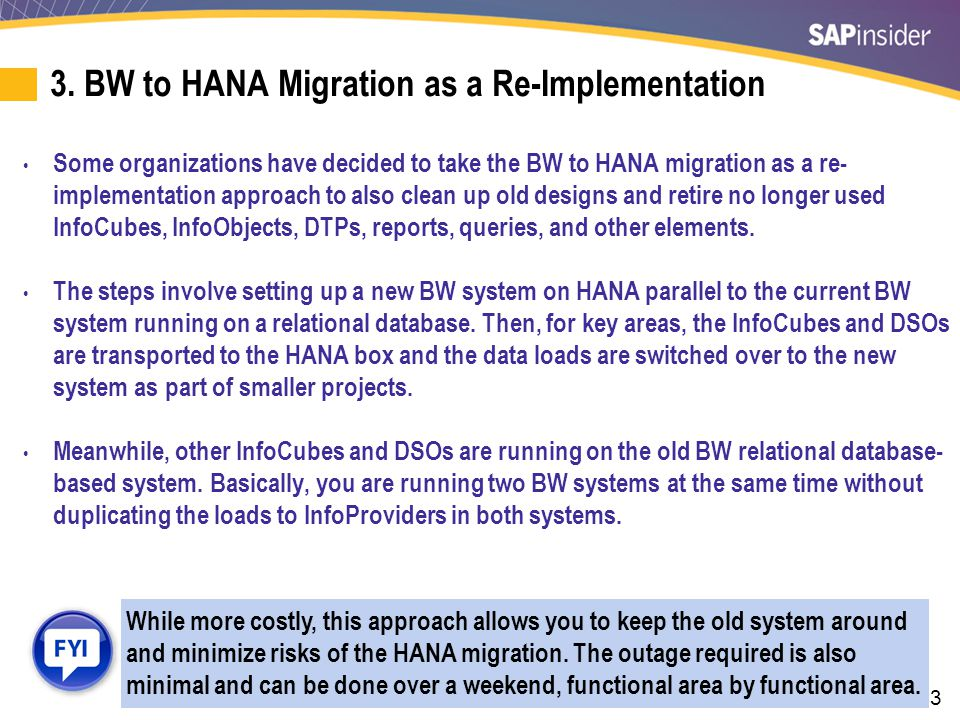 4. Migrate a Copy of BW to HANA
