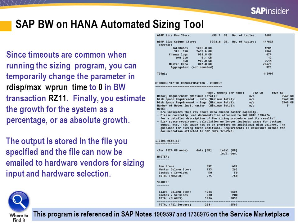 Rule Of Thumb Approach to Sizing HANA — Memory