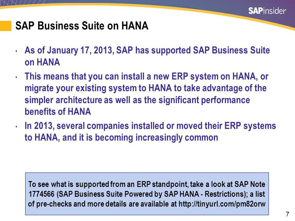 SAP Business Suite on HANA (cont.)