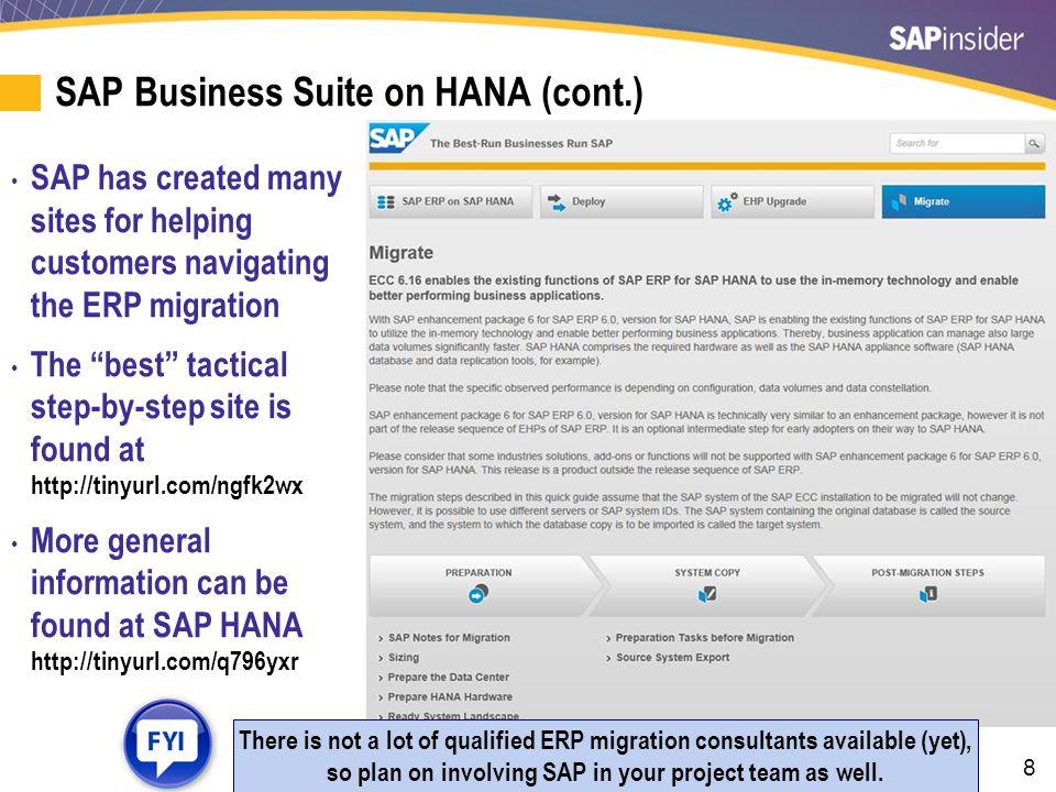 SAP HANA Analytical Framework