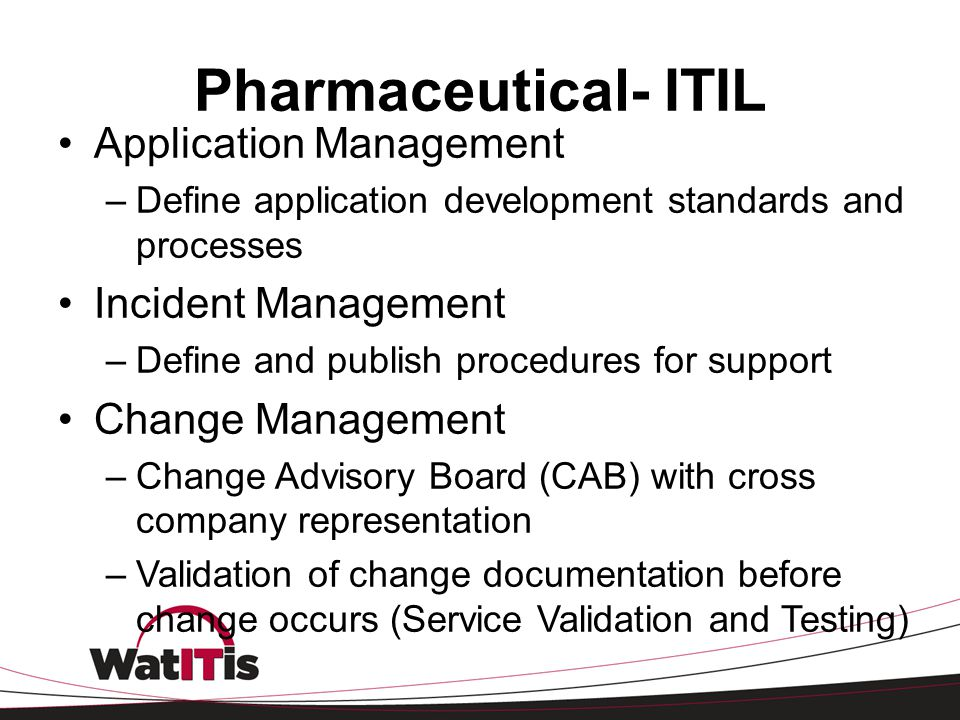 Pharmaceutical- ITIL Application Management Incident Management