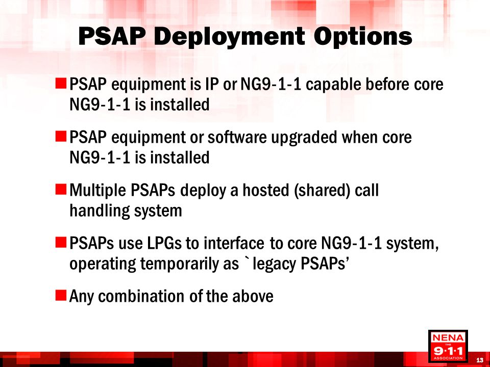 PSAP Deployment Options