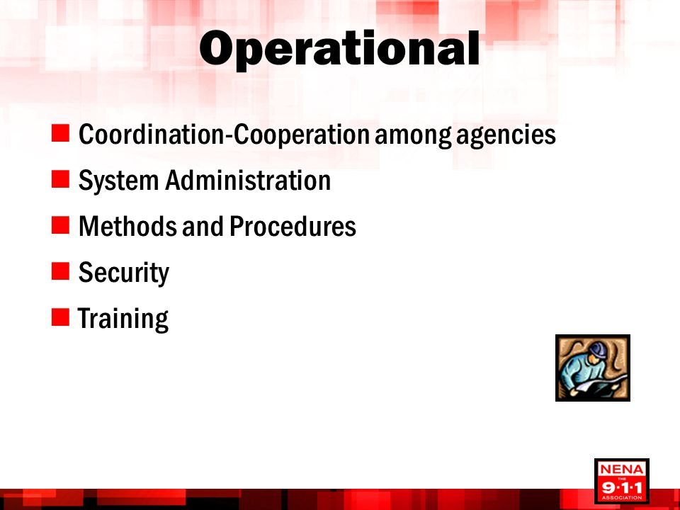Operational Coordination-Cooperation among agencies